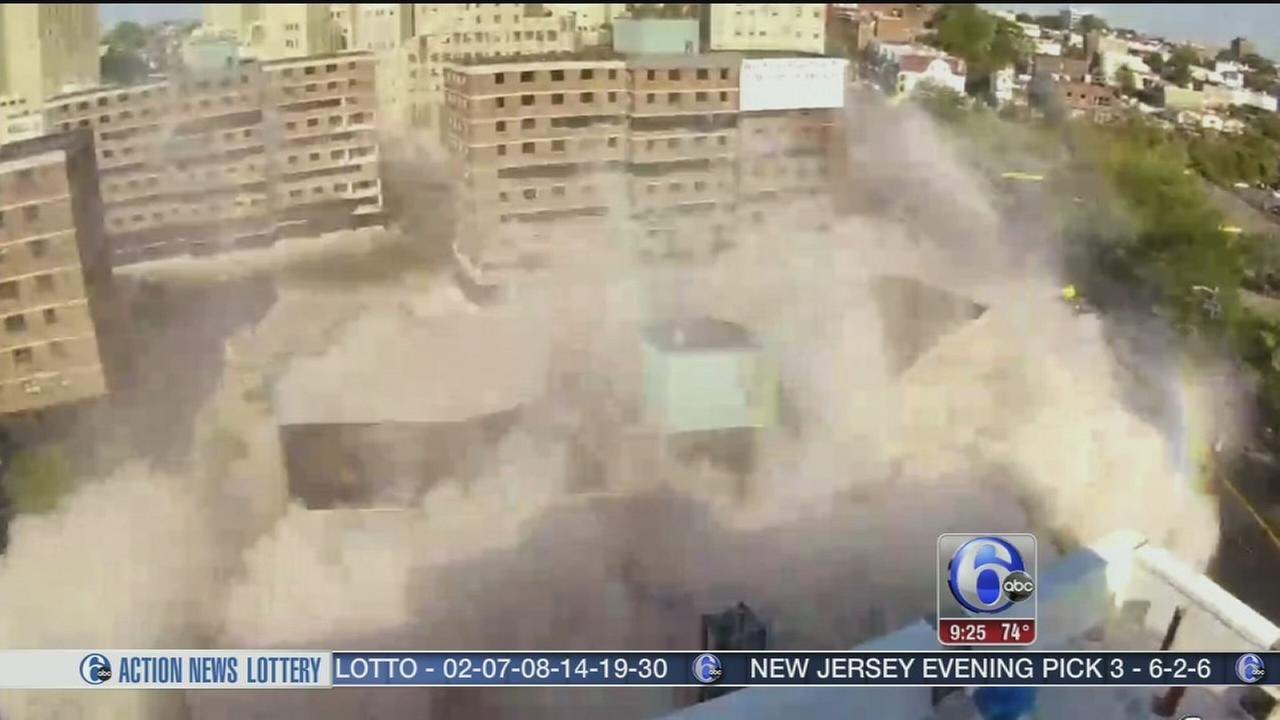 VIDEO: Officials implode former public housing bldgs.
