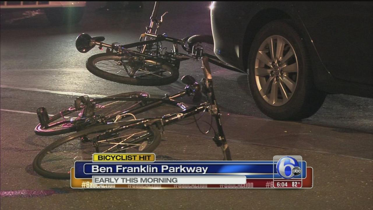 VIDEO: Bicyclist hit by car in Center City, rushed to hospital