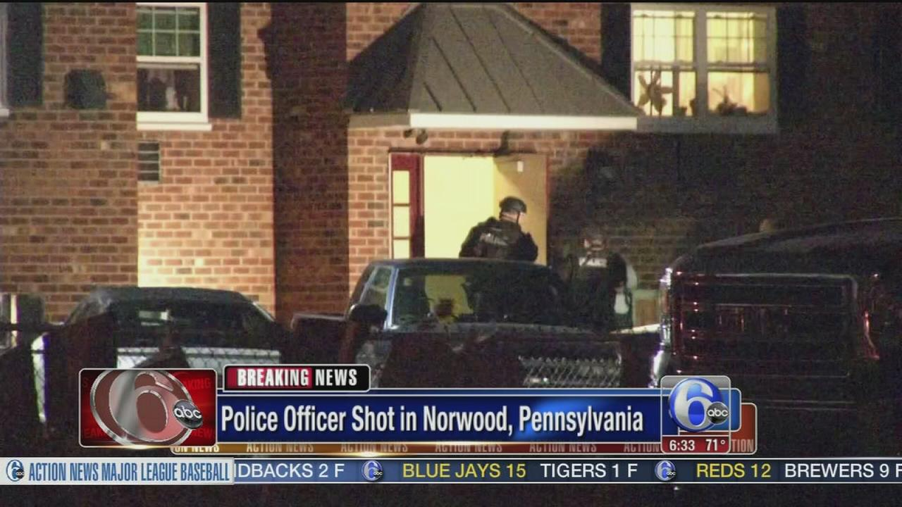 VIDEO: Officer shot, wounded in Delco