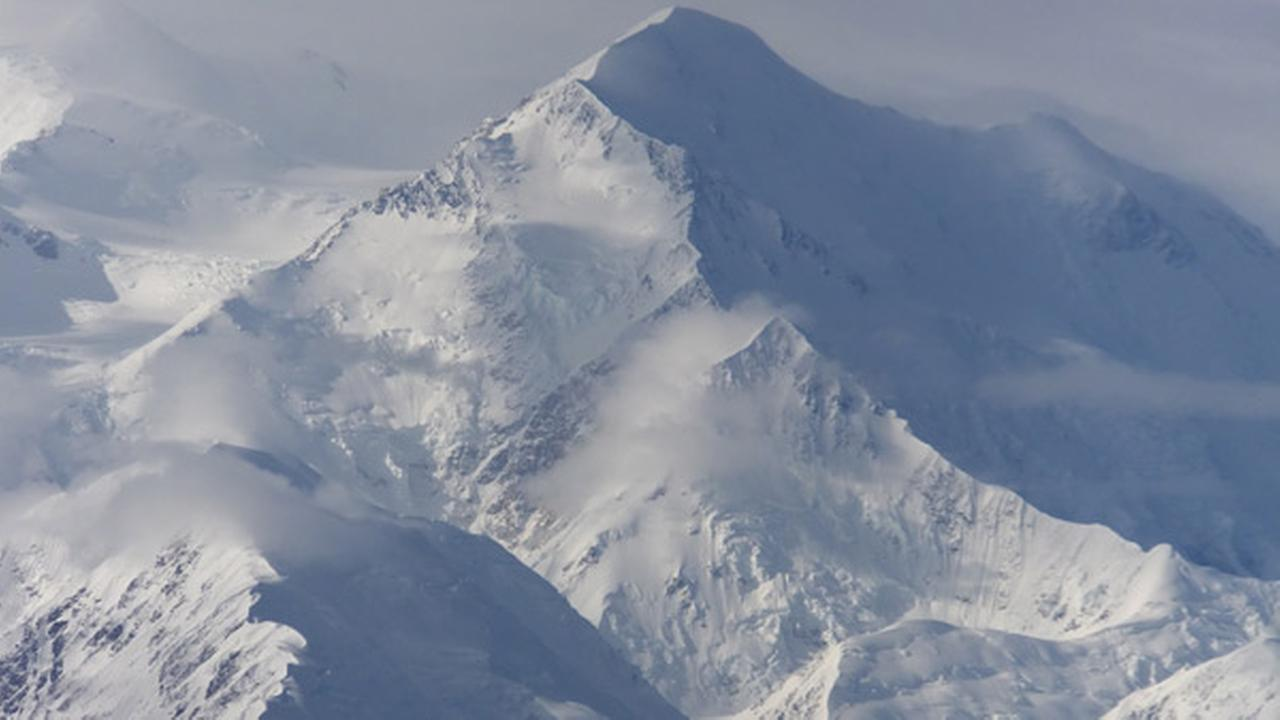 FILE - This Aug. 27, 2014, file photo shows a view of one of the faces of North Americas tallest peak, Mount McKinley, in Denali National Park and Preserve, Alaska.