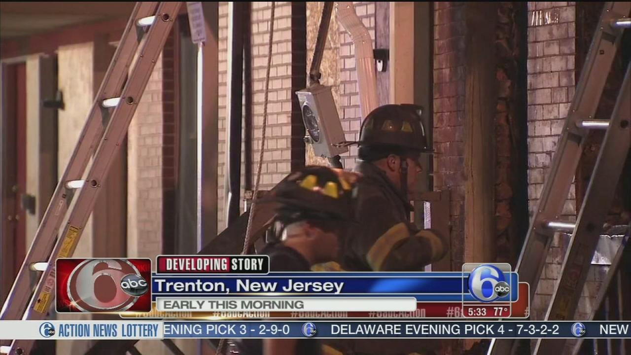 VIDEO: Fire damages two homes in Trenton