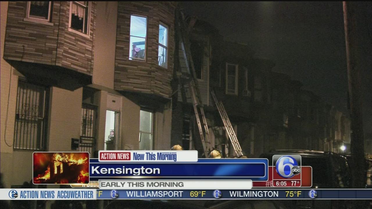 VIDEO: Firefighters battle blaze in Kensington