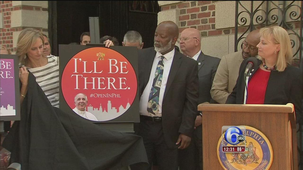 VIDEO: New campaign aims to excite the city for pope visit
