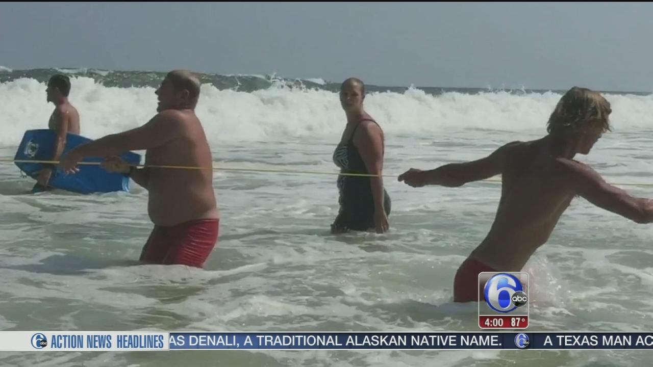 VIDEO: Video captures rescue in waters off Seaside Park