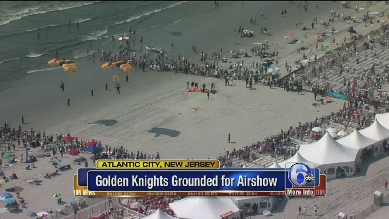 VIDEO: No Golden Knights in Atlantic City Airshow