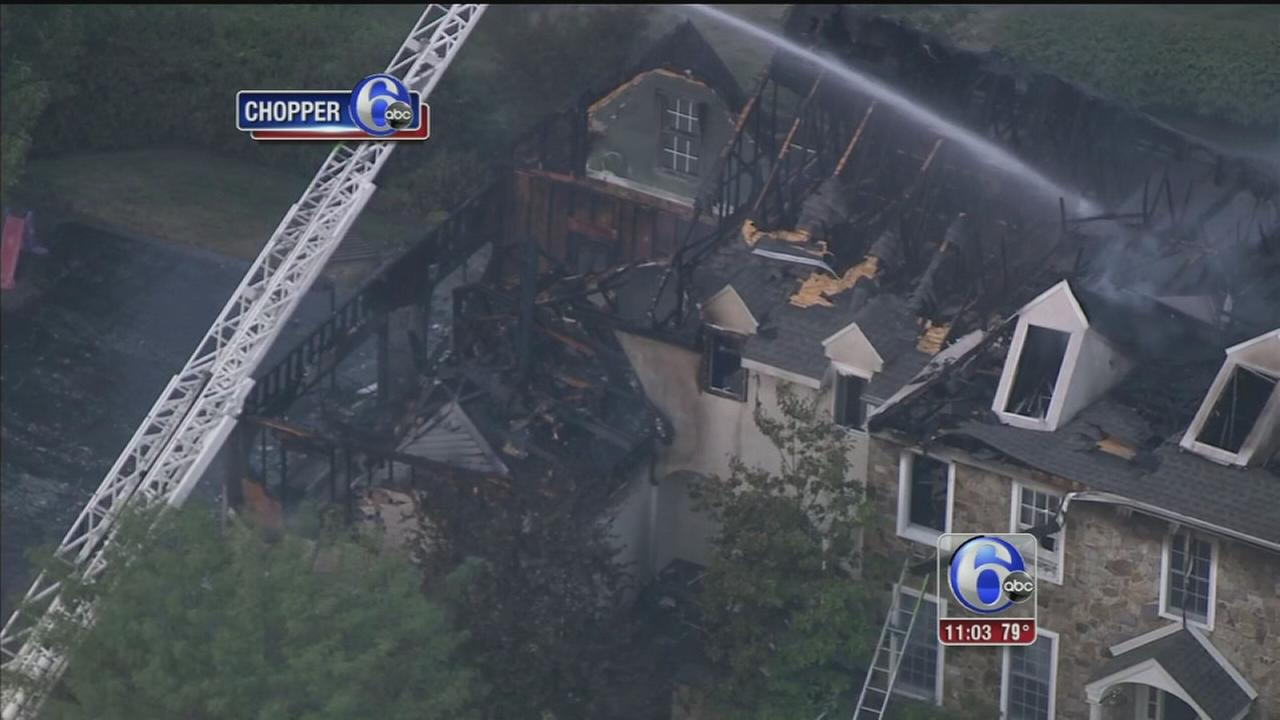 VIDEO: Fire destroys home in Chester County