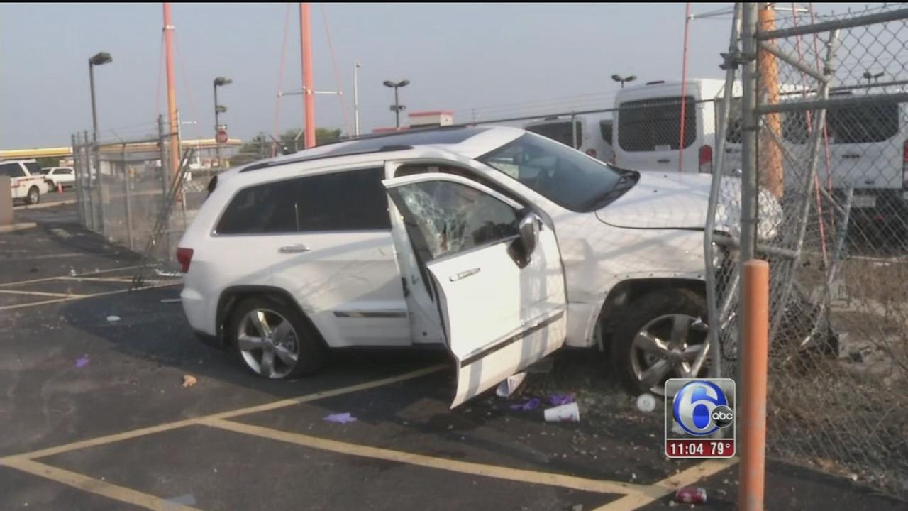 VIDEO: Driver crashes on airport property