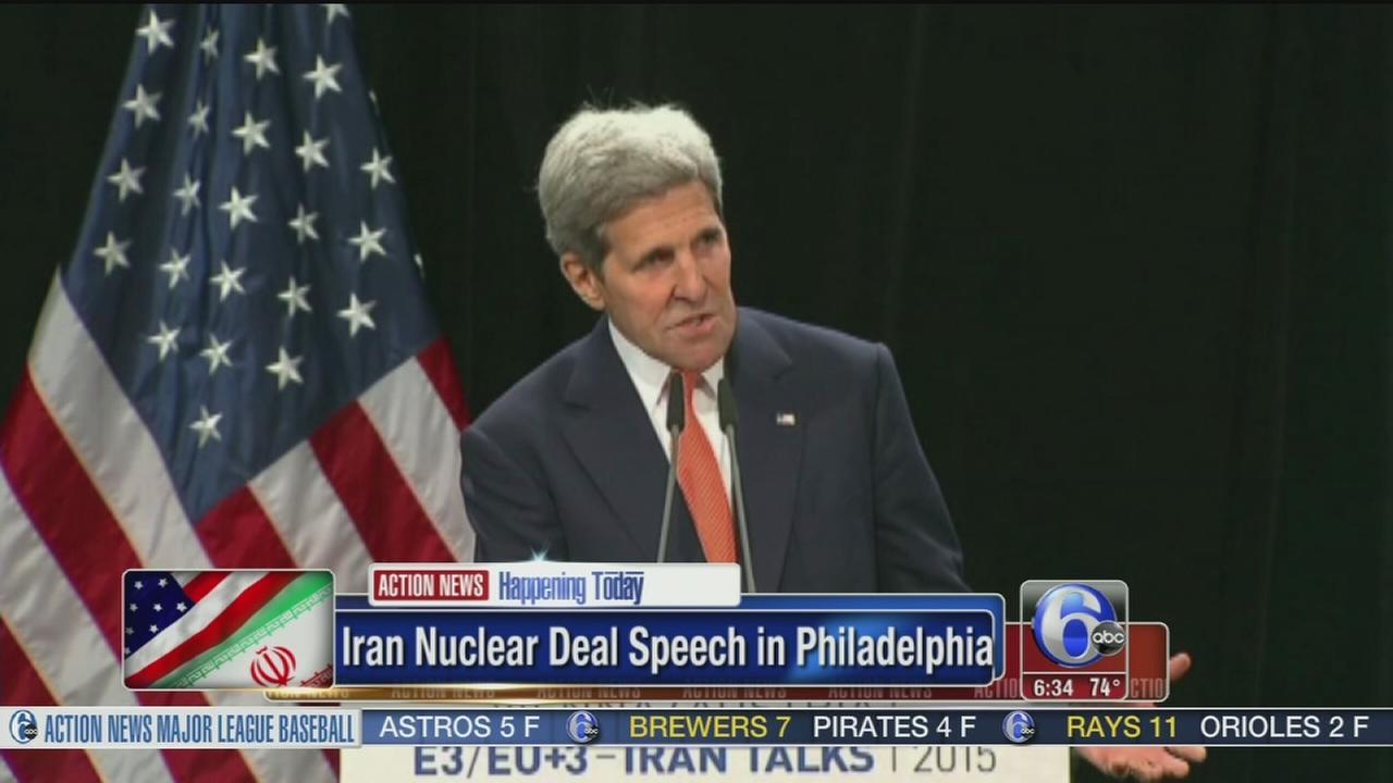 VIDEO: Kerry to address Iran nuclear deal