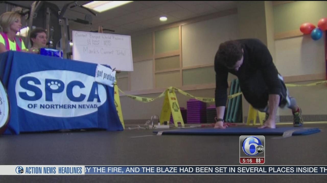 VIDEO: New world record for burpees exercise