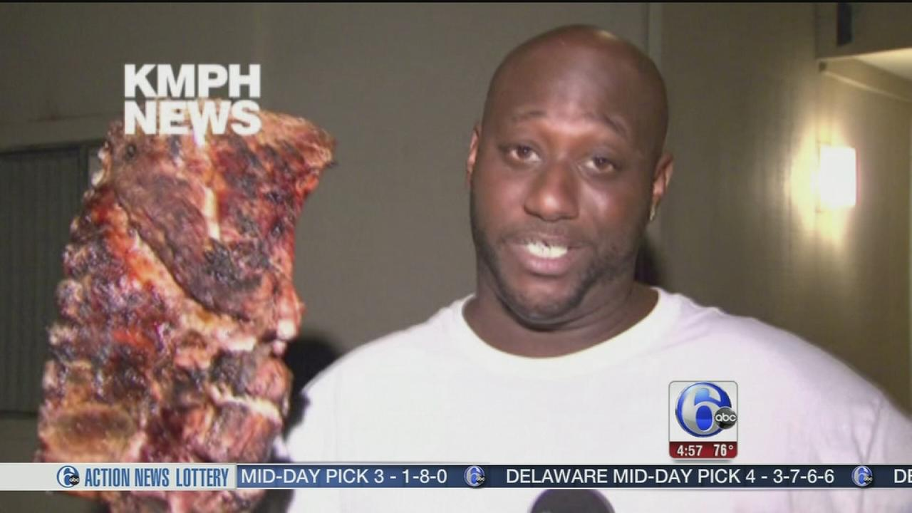 VIDEO: Man saves family, slab of ribs in apt. fire