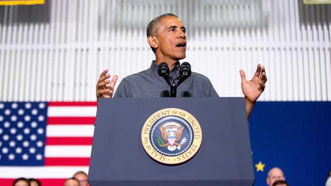 President Barack Obama delivers remarks at Kotzebue School, Wednesday, Sept. 2, 2015, in Kotzebue, Alaska.