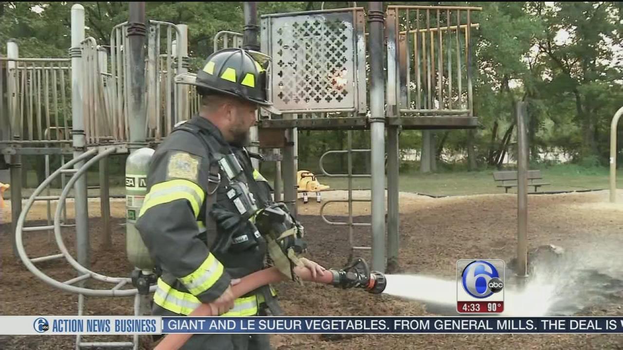 VIDEO: Playground fire deemed arson