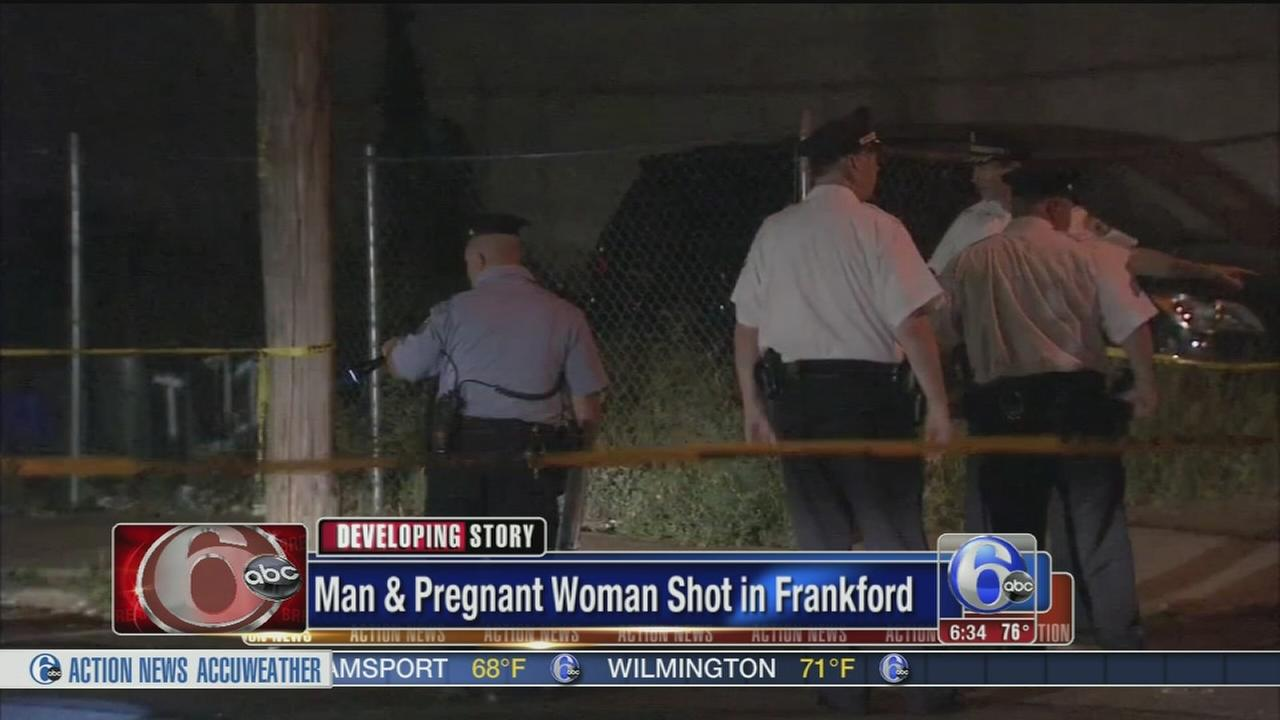 VIDEO: Pregnant woman wounded in Frankford shooting