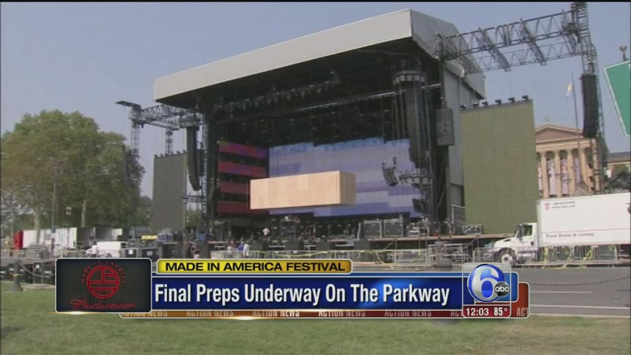 VIDEO: Final preps for Made in America festival