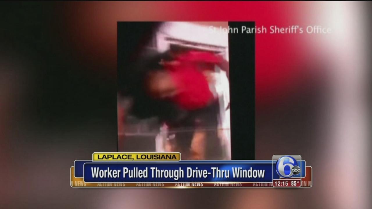 VIDEO: McDonalds worker pulled through drive-thru window