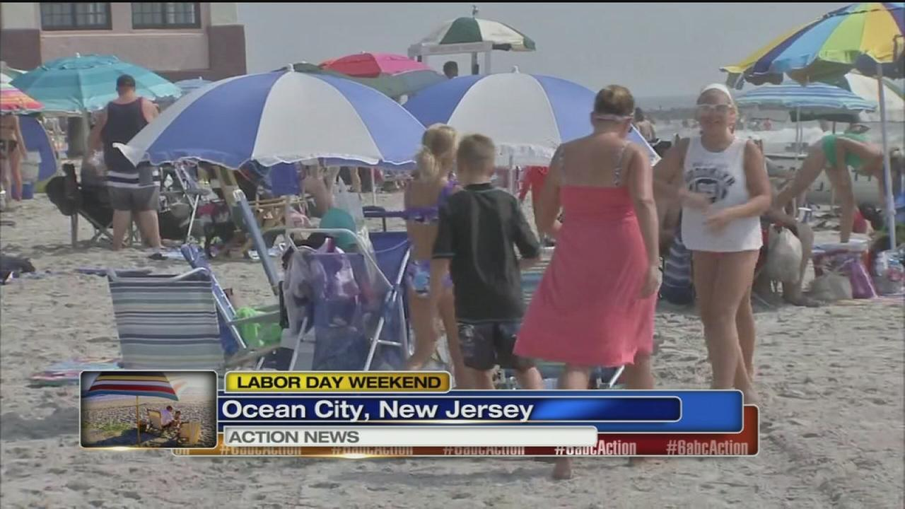 VIDEO: Holiday weekend begins at the Jersey shore