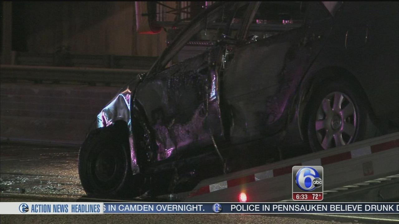 VIDEO: 4 men ejected from car in Camden crash