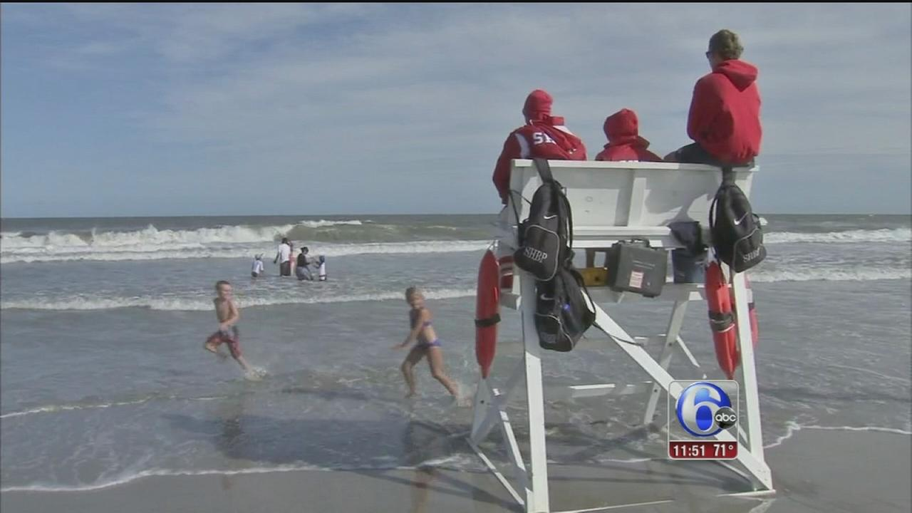 VIDEO: Rough surf leads to rescues at the shore