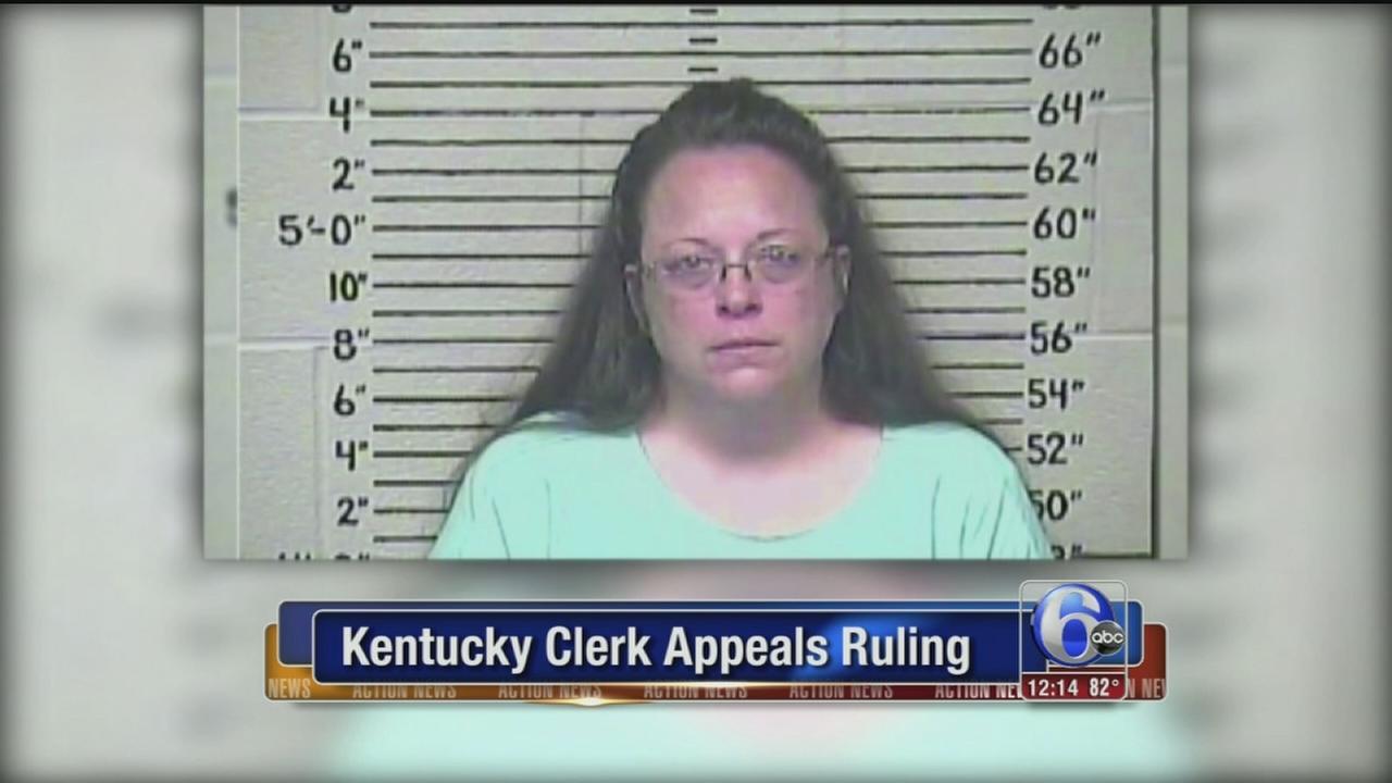 VIDEO: Kentucky clerk appeals ruling