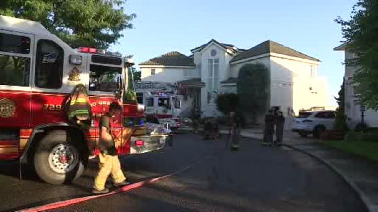 Fire breaks out at Stone Harbor home