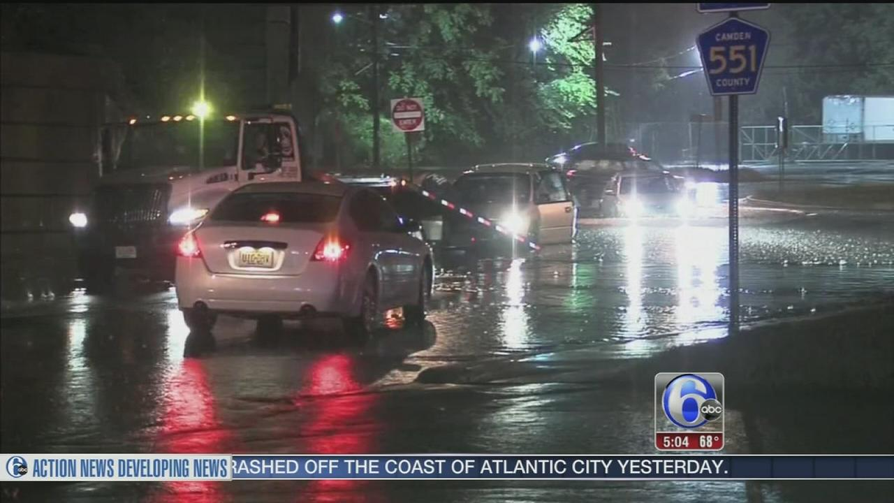 VIDEO: Heavy rains cause flooding in South Jersey