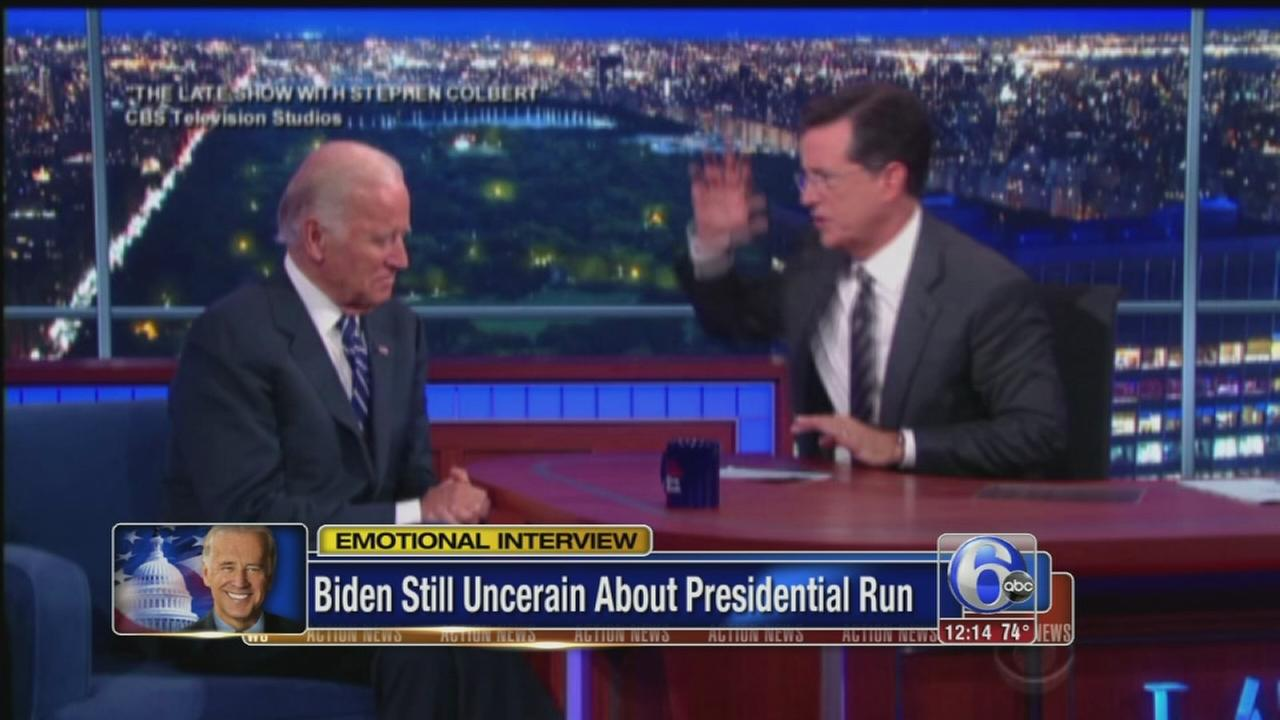 VIDEO: Joe Biden still uncertain about presidential run