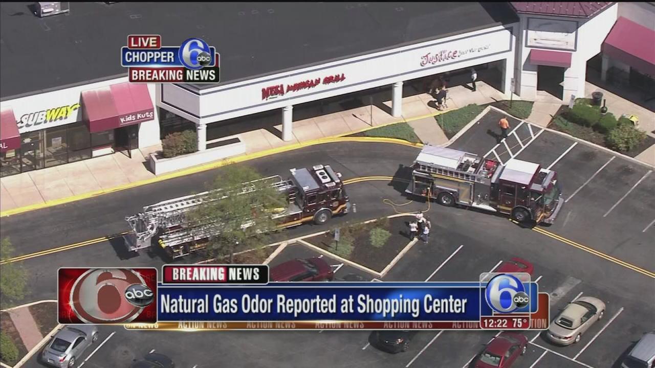 VIDEO: Delco shopping center evacuated for odor