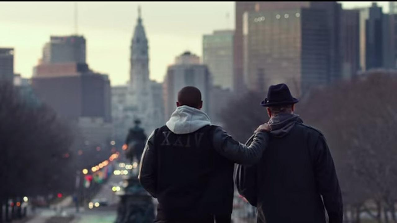 Stallone on set of 'Creed 2' during 'beautiful Philadelphia day'