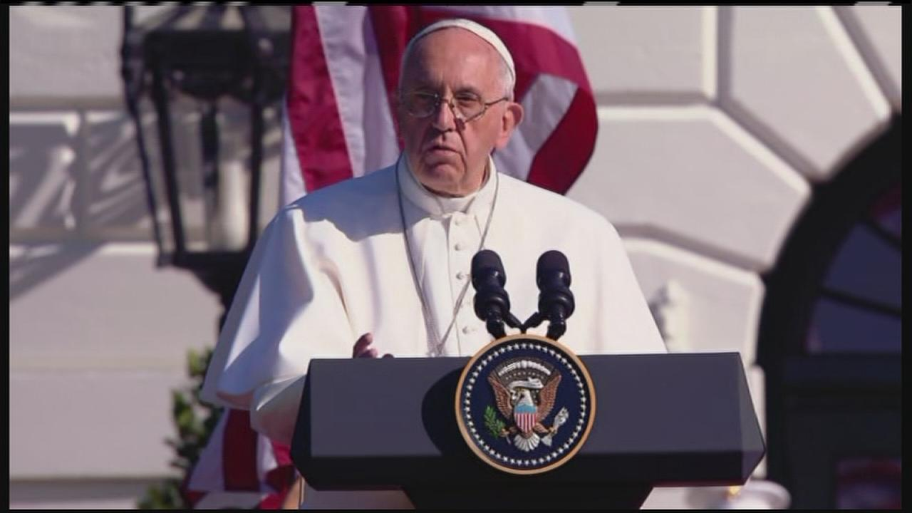 VIDEO: Pope Francis delivers remarks at White House