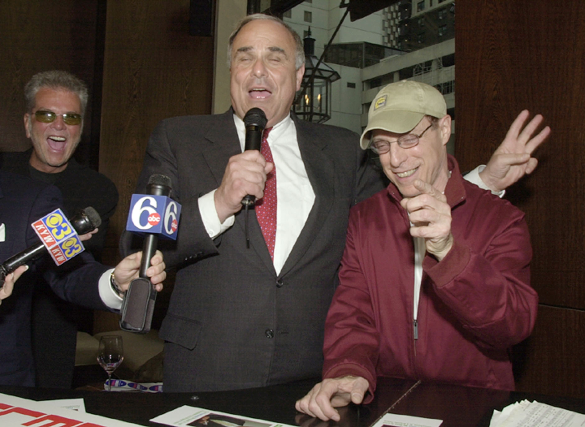 <div class='meta'><div class='origin-logo' data-origin='AP'></div><span class='caption-text' data-credit='ASSOCIATED PRESS'>Ed Rendell with radio personality Jerry Blavat during a campaign stop while running for Governor in 2002 (AP Photo/Chris Gardner)</span></div>