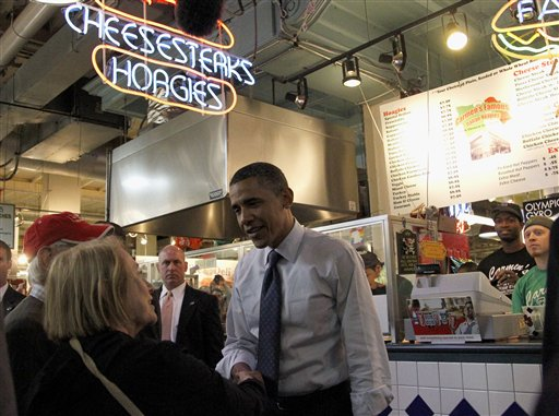 <div class='meta'><div class='origin-logo' data-origin='none'></div><span class='caption-text' data-credit='ASSOCIATED PRESS'>President Barack Obama visits Reading Terminal Market in Philadelphia, Monday, Sept. 20, 2010. (AP Photo/Pablo Martinez Monsivais)</span></div>