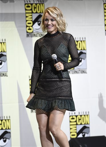 <div class='meta'><div class='origin-logo' data-origin='AP'></div><span class='caption-text' data-credit='Photo by Chris Pizzello/Invision/AP'>Rachel McAdams walks on stage at the &#34;Dr. Strange&#34; panel on day 3 of Comic-Con International on Saturday, July 23, 2016, in San Diego.</span></div>