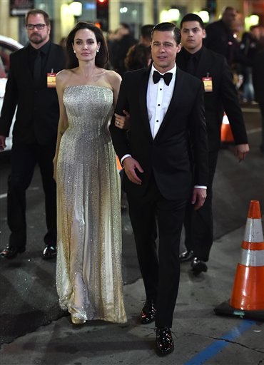 <div class='meta'><div class='origin-logo' data-origin='none'></div><span class='caption-text' data-credit='Jordan Strauss/Invision/AP'>Angelina Jolie and Brad Pitt arrive at the AFI Fest opening night premiere of &#34;By The Sea&#34; on Nov. 5, 2015, in Los Angeles. (Photo by Jordan Strauss/Invision for Audi/AP Images)</span></div>