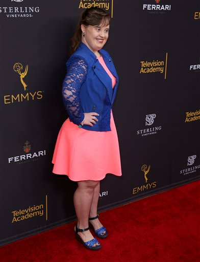 "<div class=""meta image-caption""><div class=""origin-logo origin-image ap""><span>AP</span></div><span class=""caption-text"">Jamie Brewer arrives at the Television Academy's Performers Emmy Celebration at the Montage Beverly Hills on Monday, Aug. 22, 2016. (Matt Sayles/Invision/AP)</span></div>"