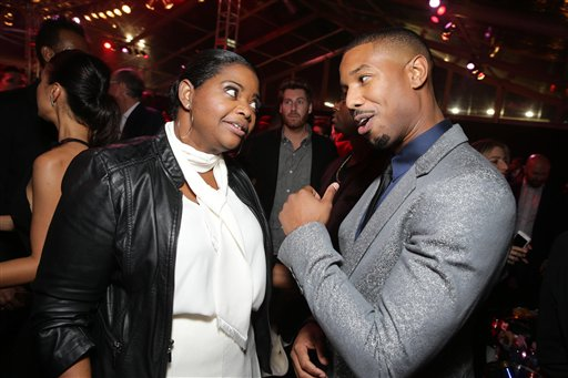 <div class='meta'><div class='origin-logo' data-origin='none'></div><span class='caption-text' data-credit='Eric Charbonneau/Invision/AP'>Exclusive - Octavia Spencer and Michael B. Jordan seen at Los Angeles World Premiere of New Line Cinema?s and Metro-Goldwyn-Mayer Pictures' 'Creed'</span></div>