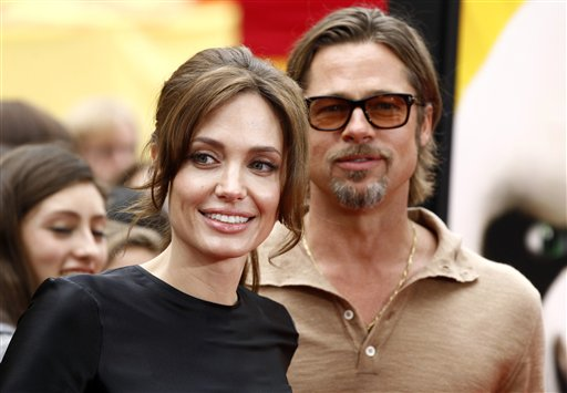 <div class='meta'><div class='origin-logo' data-origin='none'></div><span class='caption-text' data-credit='ASSOCIATED PRESS'>Angelina Jolie and Brad Pitt arrive at the premiere of &#34;Kung Fu Panda 2&#34; in Los Angeles, Sunday, May 22, 2011.  The film opens May 26, 2011. (AP Photo/Matt Sayles)</span></div>