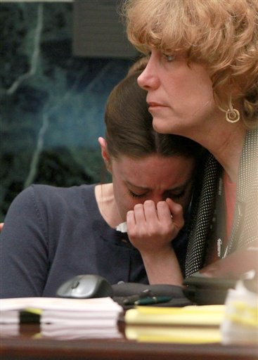 """<div class=""""meta image-caption""""><div class=""""origin-logo origin-image none""""><span>none</span></div><span class=""""caption-text"""">Casey Anthony is comforted by her attorney Dorothy Clay Sims during Anthony's murder trial at the Orange County Courthouse, Friday, June 10, 2011 in Orlando, Fla. (AP)</span></div>"""