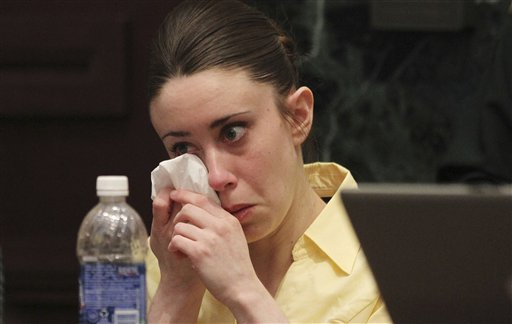 """<div class=""""meta image-caption""""><div class=""""origin-logo origin-image none""""><span>none</span></div><span class=""""caption-text"""">Casey Anthony reacts while listening to the defense's closing arguments in her murder trial in Orlando, Fla., Sunday, July 3, 2011. (ASSOCIATED PRESS)</span></div>"""