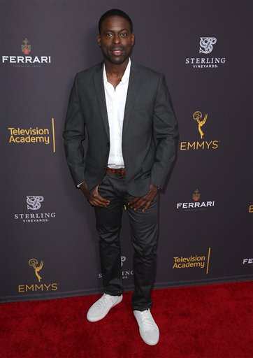 "<div class=""meta image-caption""><div class=""origin-logo origin-image ap""><span>AP</span></div><span class=""caption-text"">Sterling K. Brown arrives at the Television Academy's Performers Emmy Celebration at the Montage Beverly Hills on Monday, Aug. 22, 2016. (Matt Sayles/Invision/AP)</span></div>"