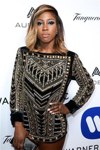 <div class='meta'><div class='origin-logo' data-origin='AP'></div><span class='caption-text' data-credit='Rich Fury/Invision/AP'>Sevyn Streeter arrives at the Warner Music Group Grammy Awards After Party at Milk Studios on Monday, Feb. 15, 2016, in Los Angeles.</span></div>