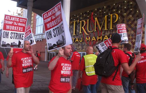 <div class='meta'><div class='origin-logo' data-origin='none'></div><span class='caption-text' data-credit=''>Striking union members rally outside the Trump Taj Mahal casino in Atlantic City, N.J.</span></div>
