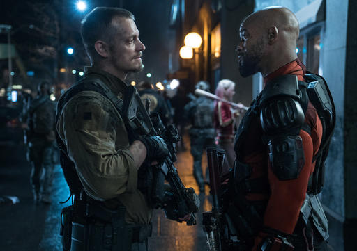 "<div class=""meta image-caption""><div class=""origin-logo origin-image none""><span>none</span></div><span class=""caption-text"">This image released by Warner Bros. Pictures shows, Joel Kinnaman, left, and Will Smith in a scene from ""Suicide Squad."" (Clay Enos/Warner Bros. Pictures via AP) (AP)</span></div>"
