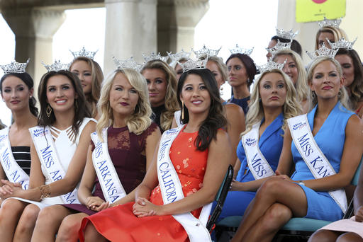 "<div class=""meta image-caption""><div class=""origin-logo origin-image none""><span>none</span></div><span class=""caption-text"">Contestants watch during Miss America Pageant arrival ceremonies Tuesday, Aug. 30, 2016, in Atlantic City. (AP)</span></div>"