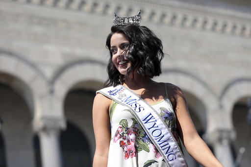 <div class='meta'><div class='origin-logo' data-origin='none'></div><span class='caption-text' data-credit='AP'>Miss Wyoming, Jordyn Hall is introduced during Miss America Pageant arrival ceremonies Tuesday, Aug. 30, 2016, in Atlantic City.</span></div>