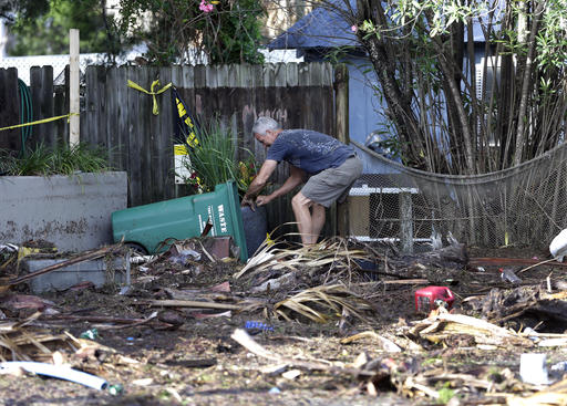 "<div class=""meta image-caption""><div class=""origin-logo origin-image none""><span>none</span></div><span class=""caption-text"">A business owner clears debris outside his office after Hurricane Hermine passed through Friday, Sept. 2, 2016, in Cedar Key, Fla. (AP)</span></div>"