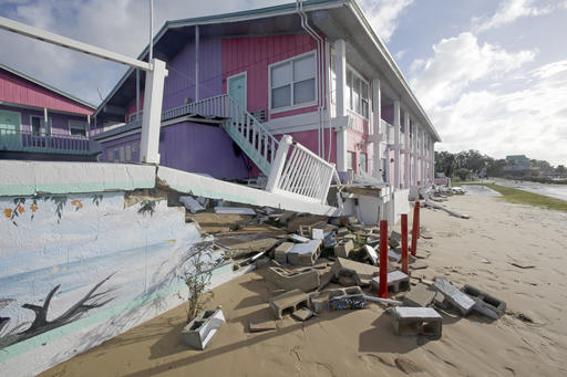 "<div class=""meta image-caption""><div class=""origin-logo origin-image none""><span>none</span></div><span class=""caption-text"">Part of a sea wall that collapsed is seen after Hurricane Hermine passed through Friday, Sept. 2, 2016, in Cedar Key, Fla. (AP)</span></div>"