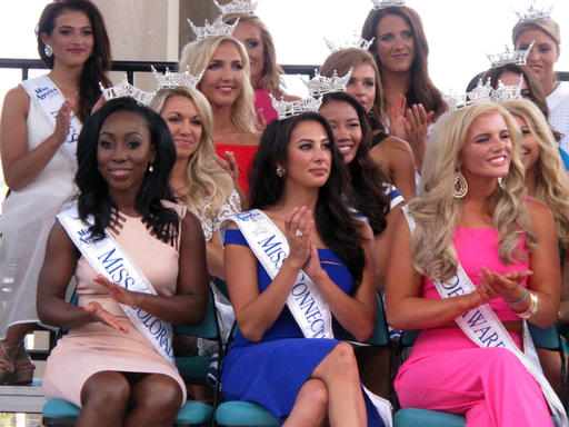 <div class='meta'><div class='origin-logo' data-origin='none'></div><span class='caption-text' data-credit='AP'>This Tuesday, Aug. 30, 2016 photo shows Miss America contestants at a welcoming ceremony in Atlantic City.</span></div>