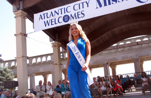 <div class='meta'><div class='origin-logo' data-origin='none'></div><span class='caption-text' data-credit='AP'>This Tuesday, Aug. 30, 2016 photo shows Miss Iowa Kelly Koch at a welcoming ceremony for Miss America contestants, in Atlantic City.</span></div>