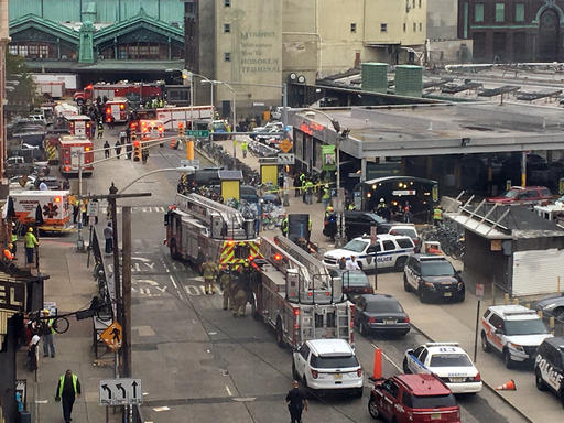 <div class='meta'><div class='origin-logo' data-origin='none'></div><span class='caption-text' data-credit='AP'>Emergency personnel arrive at the scene of a train crash in Hoboken, N.J. on Thursday, Sept. 29, 2016.</span></div>
