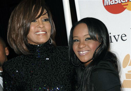 """<div class=""""meta image-caption""""><div class=""""origin-logo origin-image none""""><span>none</span></div><span class=""""caption-text"""">Singer Whitney Houston, left, and daughter Bobbi Kristina Brown arrive at an event in Beverly Hills, Calif.   (AP Photo/ Dan Steinberg)</span></div>"""